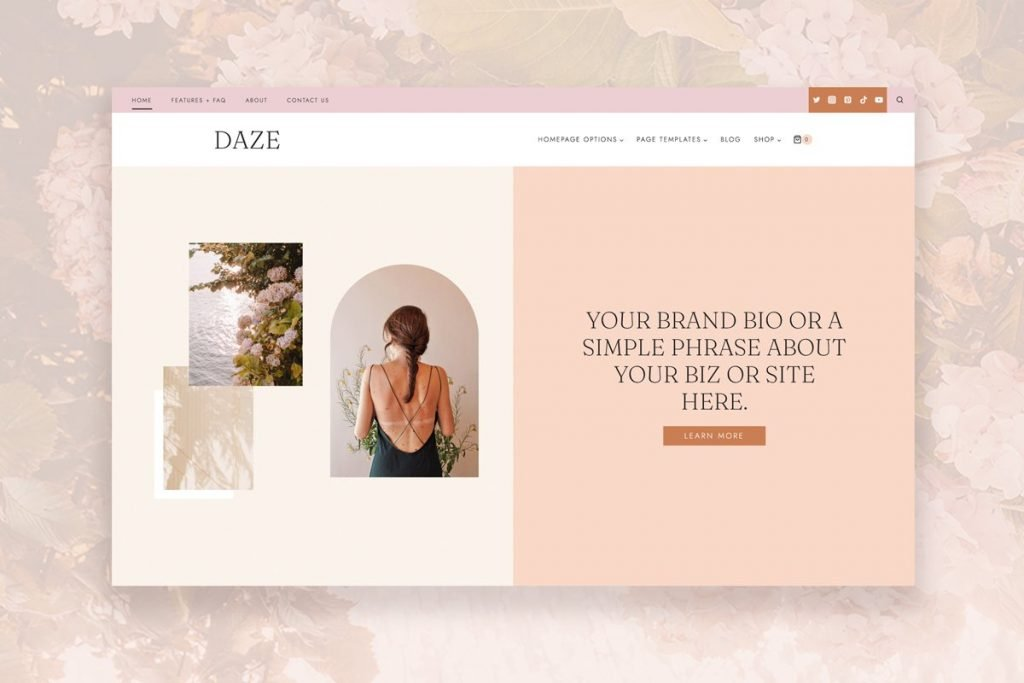 hearten made wordpress theme daze