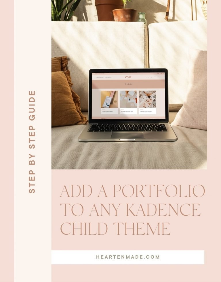 How to Add a Portfolio to any Kadence Child Theme in Under 5 Minutes