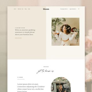 Say hello to Bloom! I am SO excited to share this new theme with you!!  Bloom is a completely customizable WordPress theme that is perfect for creatives, coaches, podcasts, bloggers, and shops + service-based businesses! Bloom is perfect for showcasing your services, products, and blog content. • What's included: 2 homepage options, 11 page templates, and 4 free Canva templates! • Read my new blog post (link in bio) to view the demo site, read more info + theme features, and watch a video to see how the theme can be customized! • If you have any questions leave a comment or shoot me a message ✨