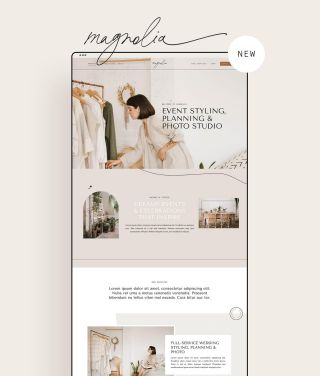 magnolia is the newest wordpress theme in the shop ✨shop link in bio!  gorgeous vintage paper patterns created by @nassy_art & most demo stock photography by @brennerjulia 💗
